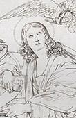 Portr�ten - Johannes Evangelist - Eine Sibylle (Domenico Zampieri - Domenichino)