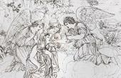 Angels - Communion of Mary-Magdalene (Domenico Zampieri - Domenichino)