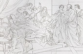 Actes des Apôtres - Nouveau Testament - Les Veuves (Le Sueur)