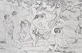 Mitolog�a - Diana y Acte�n (Le Sueur)