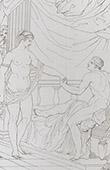 Antigua Grecia - Descuido del rey Candaules (Le Sueur)