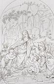 La Virgen y el Ni�o Jesus - La Virgen Mar�a, Jes�s y Santo Juan el Bautista - Bendici�n (Leonardo da Vinci)