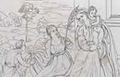 La Virgen Mar�a, Jes�s, Santo Juan el Bautista y Santa In�s  (Titien - Titian - Tiziano - Tizian - Tiziano Vecellio)