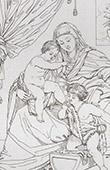 La Virgen y el Ni�o Jesus - La Virgen Mar�a, Jes�s y Santo Juan el Bautista (Guido Reni)