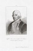 Portrait of Suffren (1729-1788) - French Admiral - Ship L'Affronteur