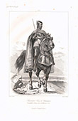 Portr�t zu Pferde von Louis de Sancerre (1341-1402)