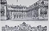 Palace of Versailles - Cour de Marbre - L'Horloge - Hercule - Mars