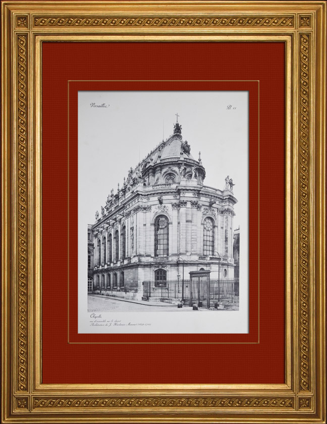 Gravures Anciennes & Dessins   Château de Versailles - Chapelle - Vue d'ensemble sur le chevet   Héliogravure   1911