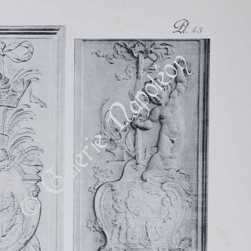 gravures anciennes ch teau de versailles chapelle bas reliefs des piliers de la nef. Black Bedroom Furniture Sets. Home Design Ideas