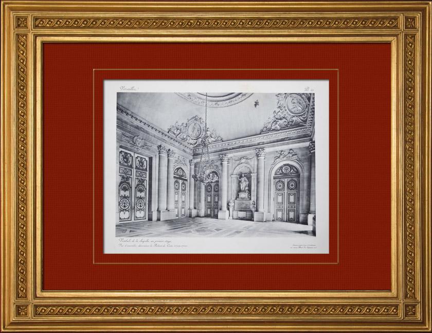 Gravures Anciennes & Dessins | Château de Versailles - Chapelle - Vestibule 1er étage (Robert de Cotte) | Héliogravure | 1911