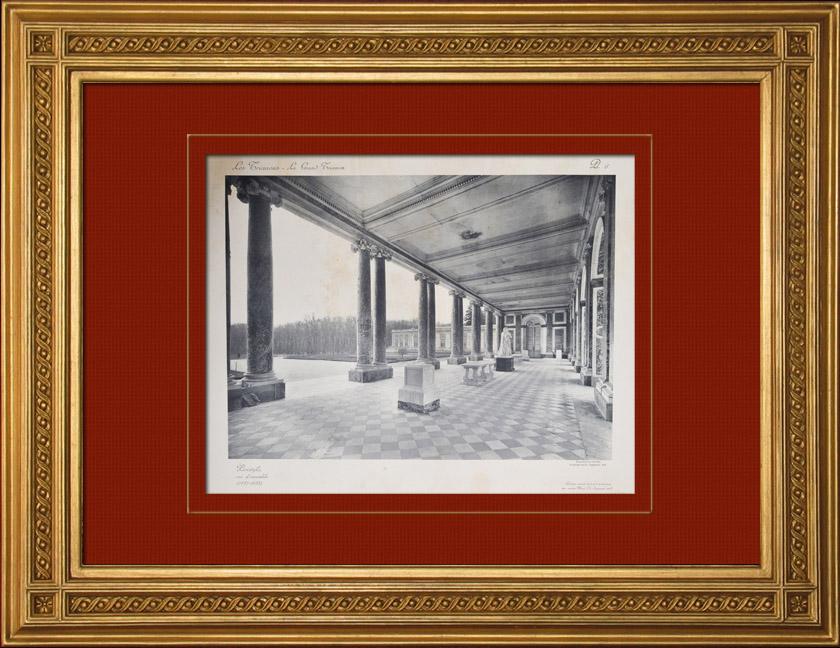 Gravures Anciennes & Dessins | Château de Versailles - Le Grand Trianon - Péristyle | Héliogravure | 1911