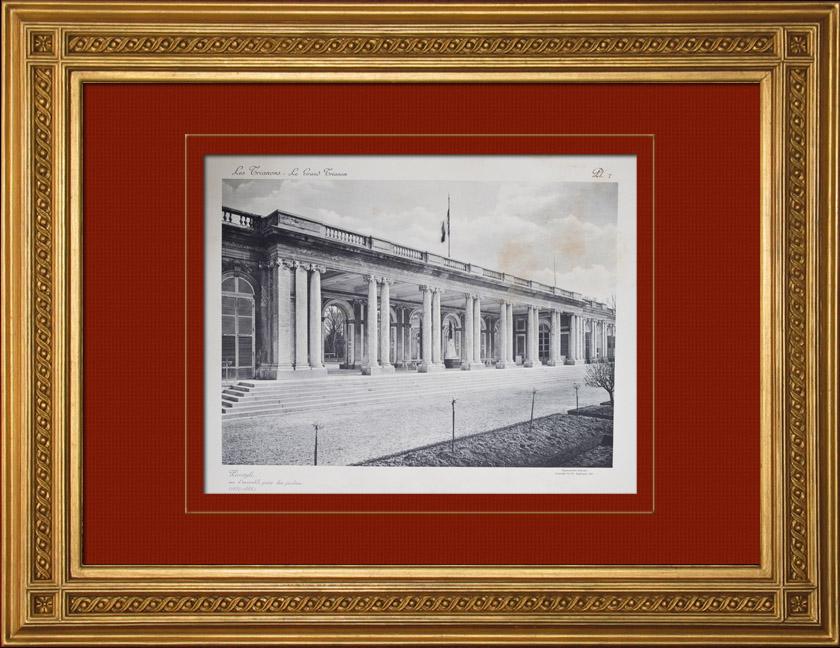 Gravures Anciennes & Dessins   Château de Versailles - Le Grand Trianon - Péristyle côté jardins   Héliogravure   1911