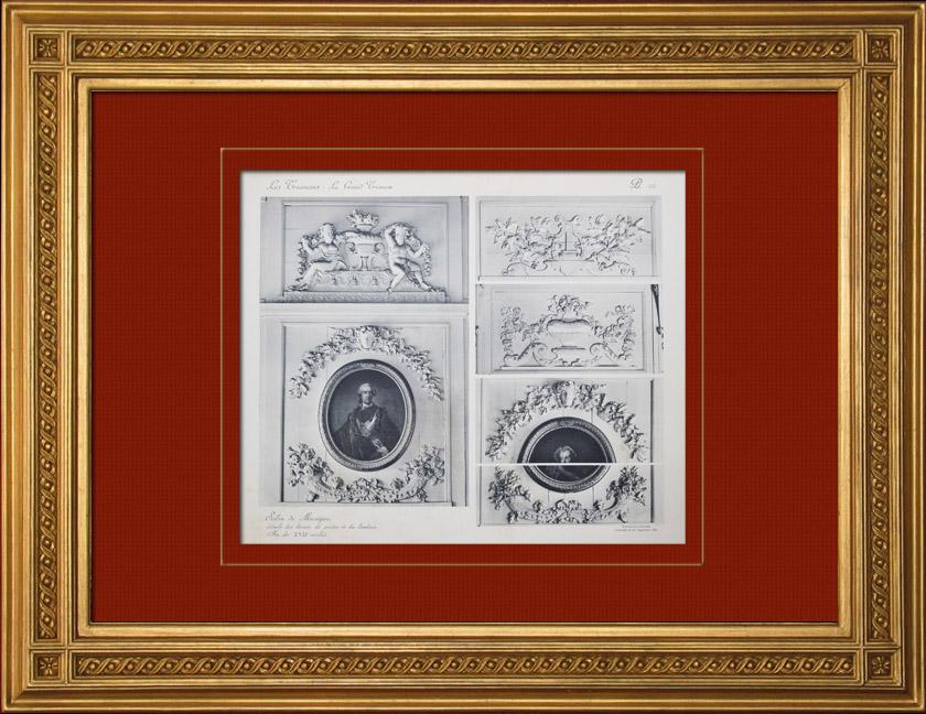 Antique prints prints of palace of versailles for Salon porte versailles