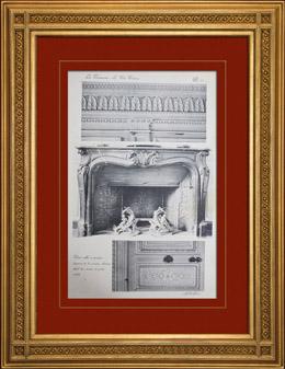 Antique prints print of palace of versailles le petit for Petite salle a manger