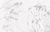 Paradies - Himmel - Adam und Eva - Verbannung von Adam und Eva aus dem Paradies (Raffael - Raffaello Sanzio)