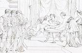 Story of Psyche - The Repast of Psyche (Raffaello Sanzio called Raphael)