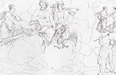 Story of Psyche - Venus speaks to Jupiter (Raffaello Sanzio called Raphael)