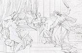 Fábula de Psique - Flagelación de Psique (Raffaello Sanzio llamado Rafael)