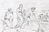 Story of Psyche - Crossing across the Styx - River - Hell (Raphael - Raffaello Sanzio)