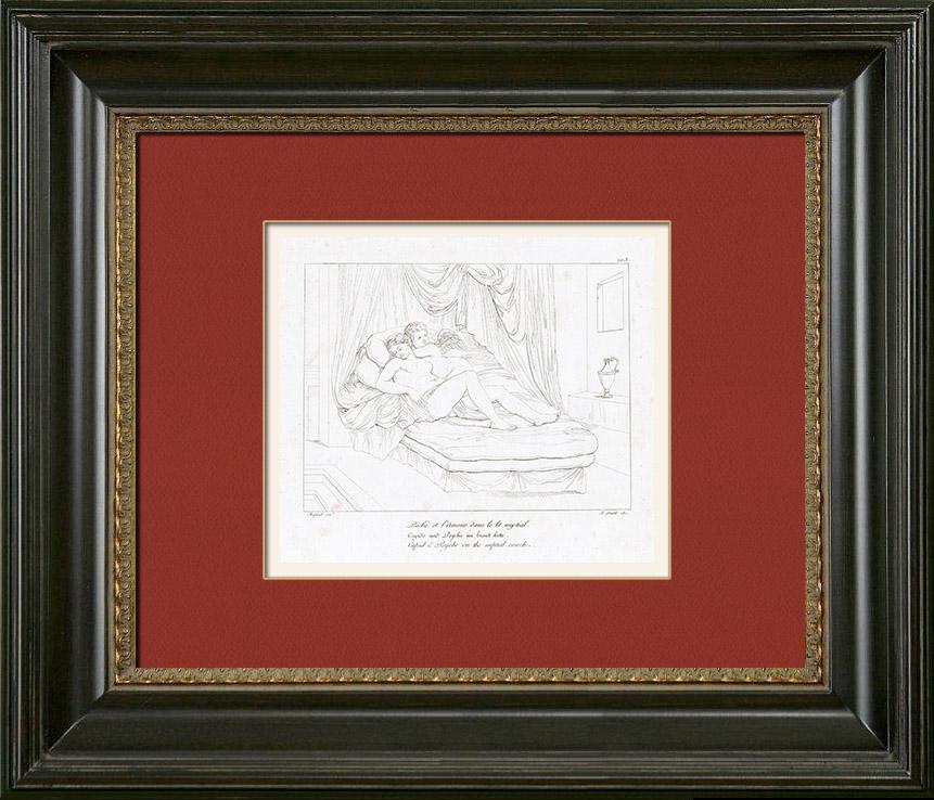 gravures anciennes histoire de psych psych et l 39 amour dans le lit nuptial raffaello. Black Bedroom Furniture Sets. Home Design Ideas