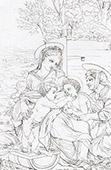 Virgem Maria - A Virgem, J�sus, Santo Jo�o ed Isabel (Rafael - Rafael Sanzio - Raffaello Sanzio)