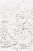 Virgem Maria, Crian�a J�sus e o Pequeno Santo Jo�o Baptista (Rafael - Rafael Sanzio - Raffaello Sanzio)