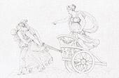 Mythology - Diana on her chariot (Raphael - Raffaello Sanzio)
