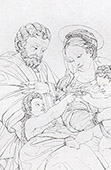 La Virgen Mar�a, San Jos� de Nazaret, el Ni�o Jes�s y Santo Juan el Bautista (Rafael - Rafael Sanzio - Raffaello Sanzio)