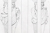 Italian Sculpture - Italian Architecture - Caryatids - Statues (Raphael - Raffaello Sanzio)