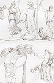 Mythology - Jupiter, Mars and Minerva - Allegory - Fame and Victoria (Raphael - Raffaello Sanzio)