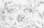 Mythology - Cupid playing with the lions (Raphael - Raffaello Sanzio)