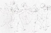 Mythology - Cupids dancing (Raphael - Raffaello Sanzio)