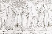 Mythology - Cupid and Mnemosyne - Muse - Poetry (Raphael - Raffaello Sanzio)