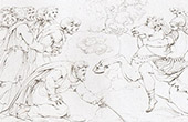 B�blia - Mois�s - Mar Vermelho - Ex�rcito de Fara� (Rafael - Rafael Sanzio - Raffaello Sanzio)