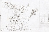 Anjo - Anuncia��o - O Arcanjo Gabriel Anunciando � Virgem Maria (Rafael - Rafael Sanzio - Raffaello Sanzio)