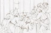 Ancient Rome - Saint Paul and Porcius Festus - Lawsuit - Baptism of Corinthians (Raphael - Raffaello Sanzio)