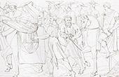 Rückkehr von Giovanni di Cosimo I de' Medici zu Florenz - Tod von Lorenzo de' Medici (Raffael - Raffaello Sanzio)