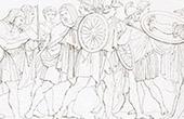 Rückkehr von Giovanni di Cosimo I de' Medici zu Florenz - Die Florentinischen plündern den Palast Médicis (Raffael - Raffaello Sanzio)