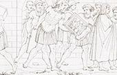 Die Florentinischen plündern den Palast Médicis - Statuen - Gemälde - Bücher (Raffael - Raffaello Sanzio)