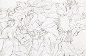 Medici - Italienische Renaissance - Massaker von Prato Bewohner (Raffael - Raffaello Sanzio)