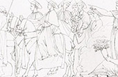 Giovanni di Cosimo I de' Medici zu Konklave nach dem Tod von Julius II. (Raffael - Raffaello Sanzio)