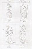 Apostelen -  Thomas - Jakobus der J�nger - Hl. Philippus - St. Bartholom�us (Raffael - Raffaello Sanzio)