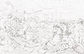Mythology - Neptune calming the Waves (Raphael - Raffaello Sanzio)