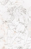 Mythology - Fight of Entellus and Dares Phrygius (Raphael - Raffaello Sanzio)