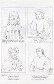 Portraits - Alfonso I d'Este - Young Man - Baldassare Castiglione - Pope Clement VII (Raphael - Raffaello Sanzio)