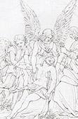 Anjo - Jesus Cristo - O Corpo de Cristo - A Morte de Cristo ou O Enterro de Cristo (Rafael - Rafael Sanzio - Raffaello Sanzio)