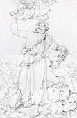 B�blia - Antigo Testamento - Sacrif�cio de Isaac por Abraham - Anjos (Rafael - Rafael Sanzio - Raffaello Sanzio)