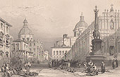 View of Catania - Elephant fountain - Piazza del Duomo - Sicily (Italy)