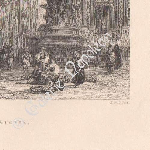 Stampe antiche stampa di catania fontana dell 39 elefante - Elefante foglio di colore dell elefante ...