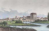 View of Chateauroux - Central France (Indre - France)